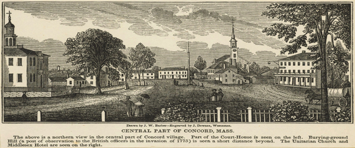 Town of Concord, Massachusetts in 1775